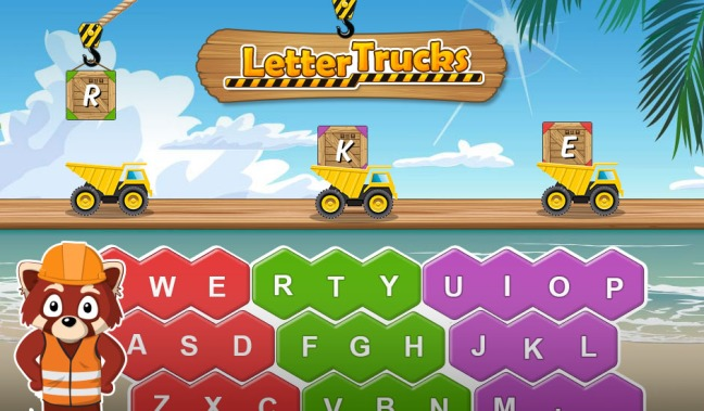 Letter trucks screenshot